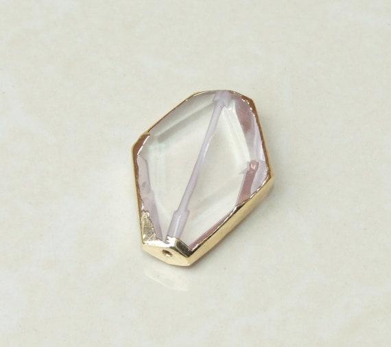 Clear quartz crystal pendant quartz pendant gemstone etsy image 0 aloadofball Choice Image