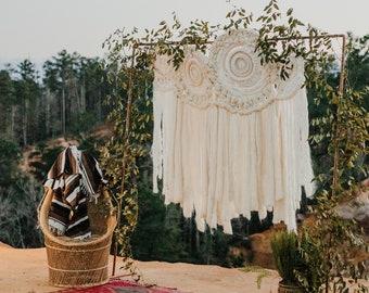 Custom Handwoven Wedding Back Drop - Circle Weaving Dream Catcher, Nursery Decor
