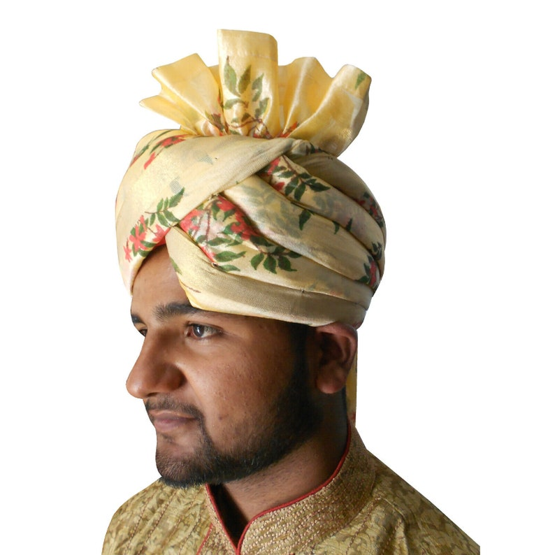 Indian Men Hat Traditional Wedding Pagri Groom Designer Turban Top Hat Handmade Royal Safa Maharaja Multi-Color Pag