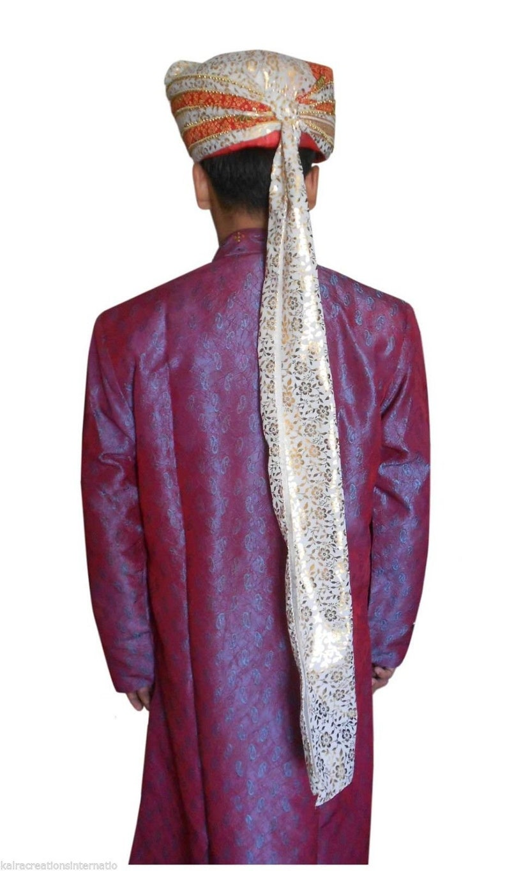 Men Hat Indian Handmade Safa Wedding Turban Groom Pagri Multi-Color Traditional Shahi Pag Top Hat