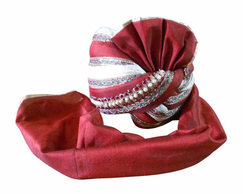 3666ab21bae Medium Men Hat Indian Turban Sherwani Groom Pagri Top Hat Pag