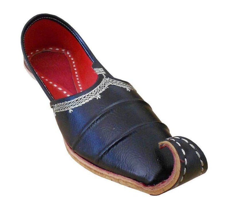 Kalra Creations Men Shoes Traditonal Indian Faux Leather with Embroidery Party Jutties