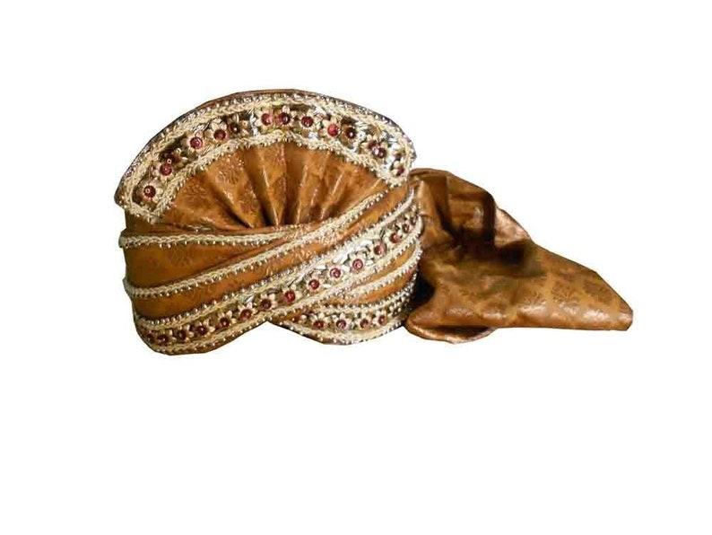 6b7eff56873 Indian Turban Sherwani Safa Men Hat Handmade Top Hat Pagri Pag