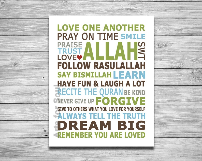 Islamic House Rules Modern Islamic Art  Digital Printable Wall Decor Art  Print 8