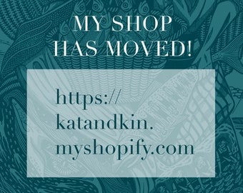 Kat & Kin - linocut art prints by Kat Flint / flintkat has MOVED!