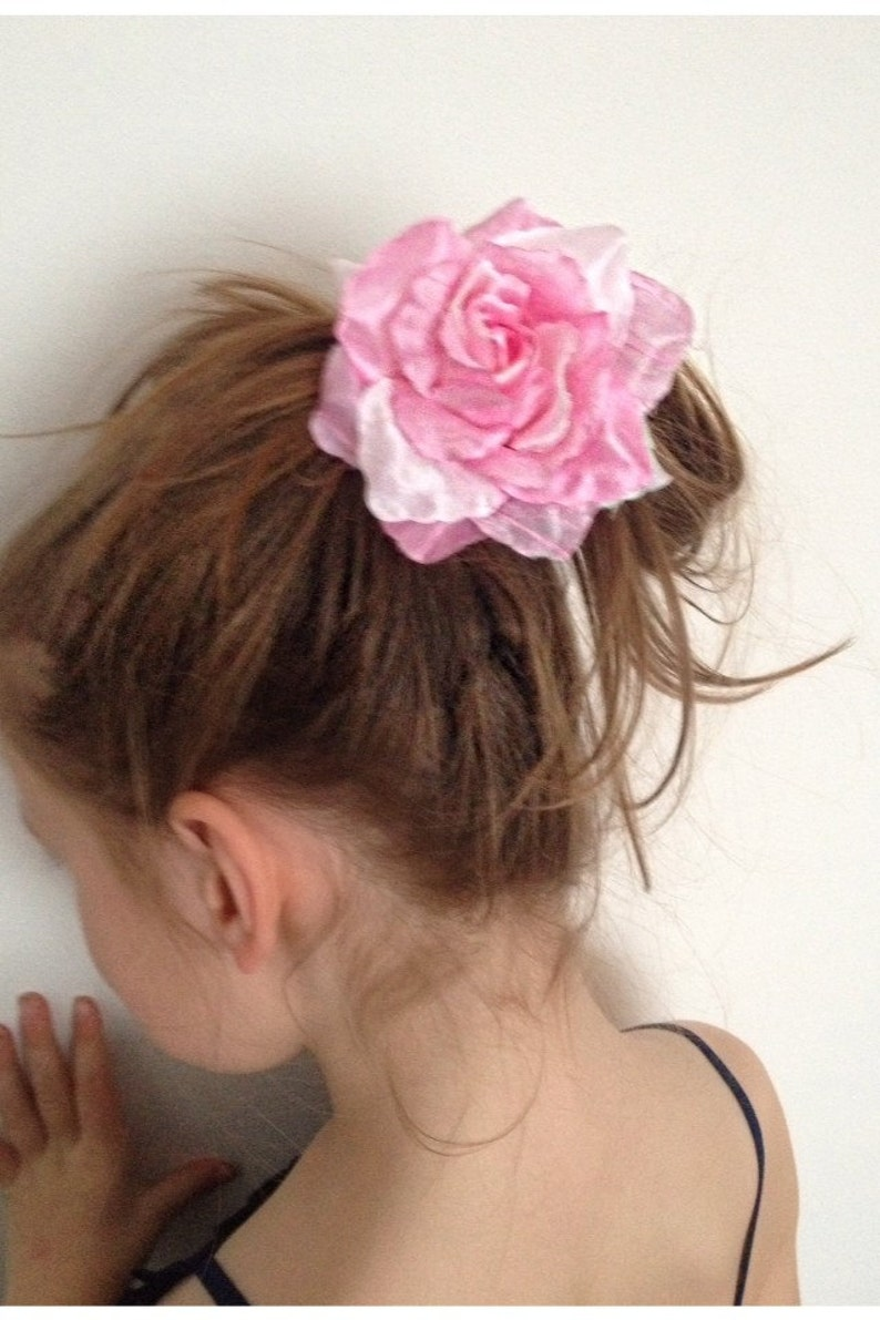 Bobble Clip Wedding Rose Hair Elastic Brooch Bridesmaid Floral Flower Accessory