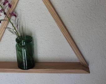 Shelf solid wood triangle