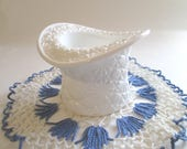Vintage Fenton Milk Glass Top Hat, Top Hat Topper in Daisy & Button Milk Glass Pattern, Milk Glass Candle Holder, Flower Vase/Planter Bowl