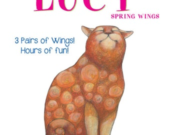 Paper Doll ~ Lucy the Cat with her Spring Wings