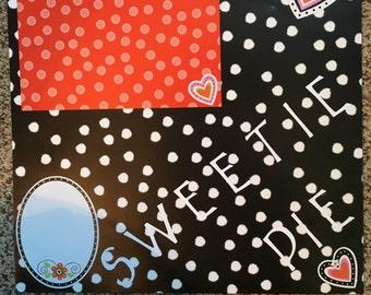 Sweetie Pie 12x12 Scrapbook Page