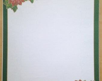 8.5x11 Poinsettia Framed Paper