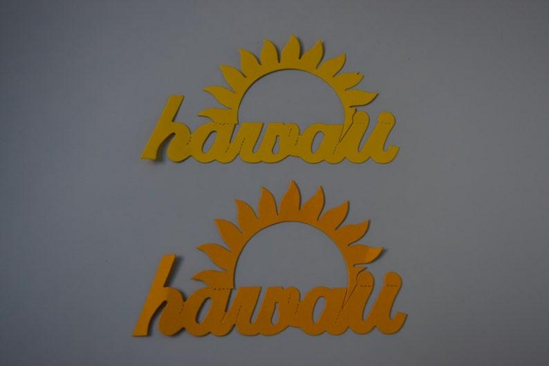 Hawaii Laser Cut Die Cuts