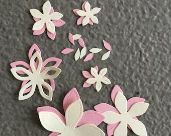 Pretty Petals #3 Paper Die Cut Flowers