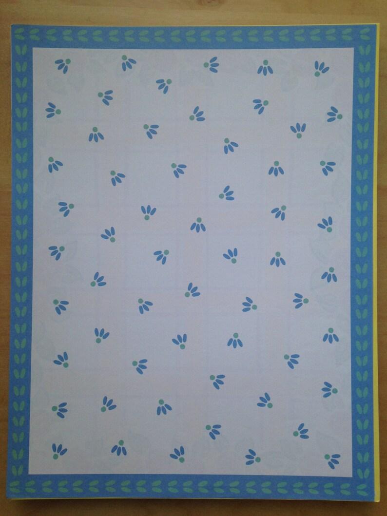 8.5x11 Frances Meyer Blue Flower Paper