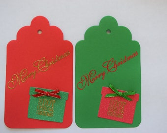 Large Holiday Gift Tags, Set of 10