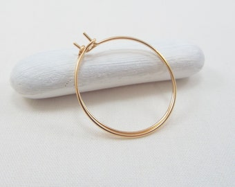 Gold Hoop Earrings Small, Gold Hoops 1 Inch, Thin Hoops, Light Weight, 14 KT Gold Hoops, Wedding, Bridesmaid Gift, Mom, Women, FREE SHIPPING