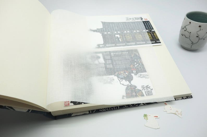 Photo album wedding wedding book baby blue Japanese paper guestbook ethnic japanese paper guest book polaroid