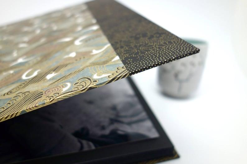 guest book Japanese paper black waves guestbook square photo album anniversary album wedding