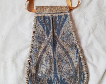 Renaissance Garb Pocket in Blue and Beige