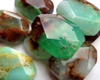 Natural Chrysoprase Rough For Jewelry Chrysoprase Jewelry- Natural Chrysoprase Chrysoprase Gemstone Mix Shape For Pendant Rough