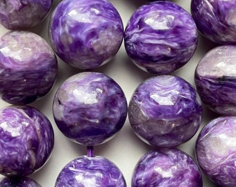 Natural rare Charoite smooth pear beads AAA charoite stone charoite loose gemstone necklace jewelry