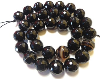 Beautiful Faceted Black Agate