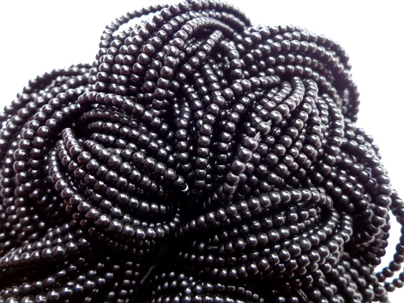 2mm Beads Smooth Round Beads Chinese Crystal Beads Gorgeous Black Beads Glass Beads Spacer Beads Great Quality Beads Full length 15.5