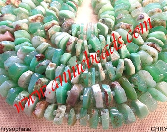 beautiful natural chrysoprase rondelle