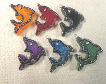 Colorful Dolphins Pendants