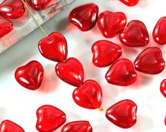 Bradlets 12mm x 11mm 40 x Red Heart Shaped Brads UK Seller