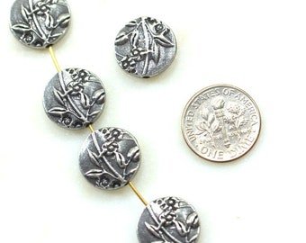 FOOTBALL Charms 6126 TierraCast Charms Antiqued Gold Plated 4 Pieces
