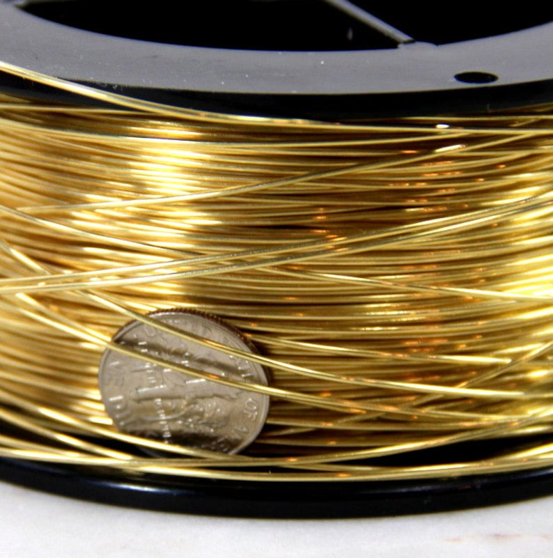1260 Ft. Spool // 1 Lb 26 Ga Solid Red Brass Jewelry /& Craft Wire SOFT