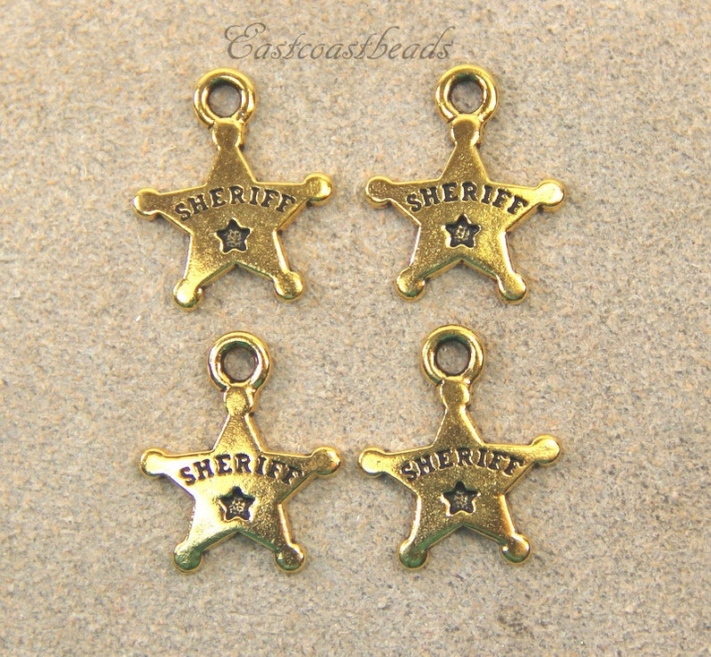 4 Pieces Fine Silver Plated Tierracast Western Boots Charms 6712