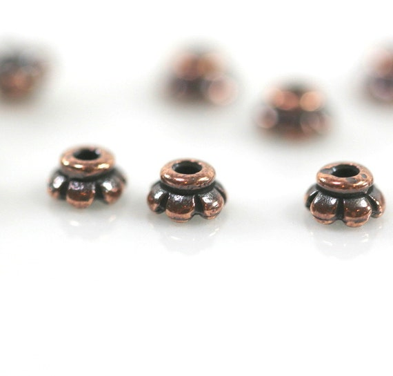 20 Pieces 4mm,TierraCast 9926 Gold Plated Pewter Beaded Bead Caps