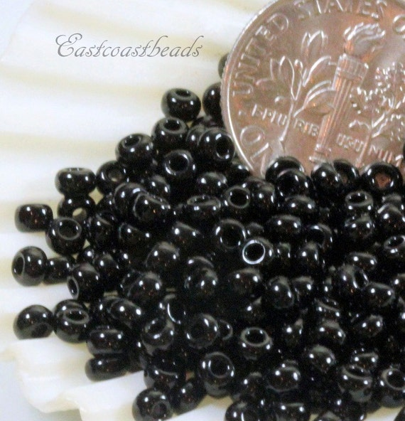 Black Diamond w Gold Lining 80 Size 10 Grams Accent Beads Seed Beads Spacer Beads Kumihimo Beads TOHO Beads