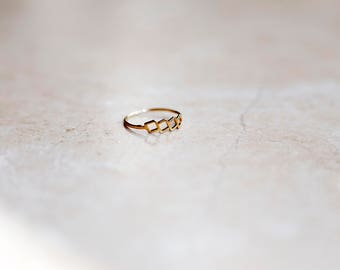 Tiny square ring ,gold square  ring, Gold Filled Ring, dainty square ring, simple gold ring, stacking ring