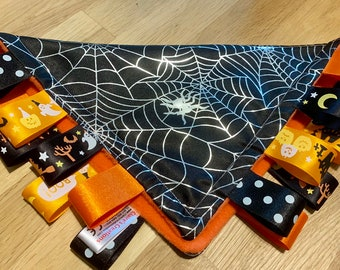 HALLOWEEN SPIDER BABY//TODDLER TAGGY BLANKET//COMFORTER//GIFT ****MANY OPTIONS*****