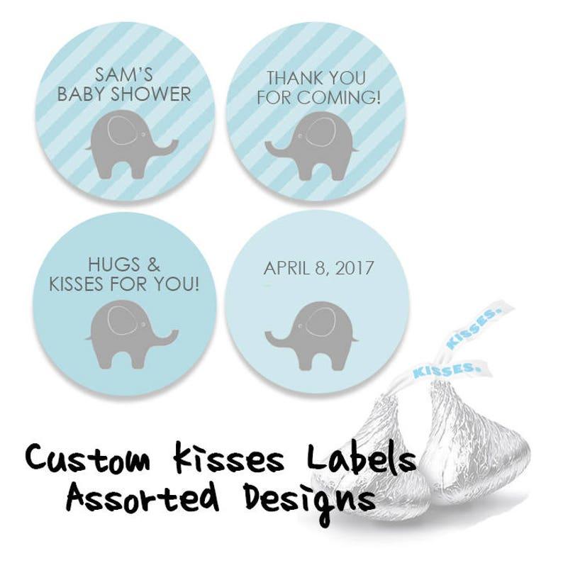 Kisses Favor labels 0.75 round labels envelope seals Custom Hershey Kisses stickers Custom baby shower Hershey/'s kisses labels