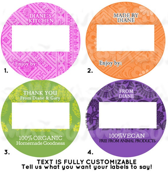personalized kitchen labels from the kitchen of labels etsy