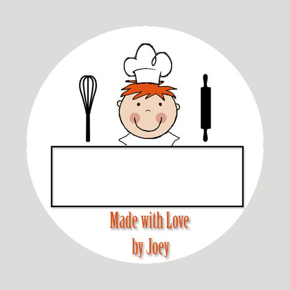 personalized kitchen labels from the kitchen of made with etsy