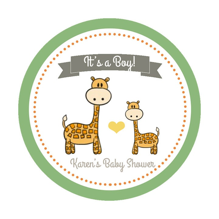 Boys Premium Name Labels: Custom Baby Shower Labels It's A Boy Shower Label