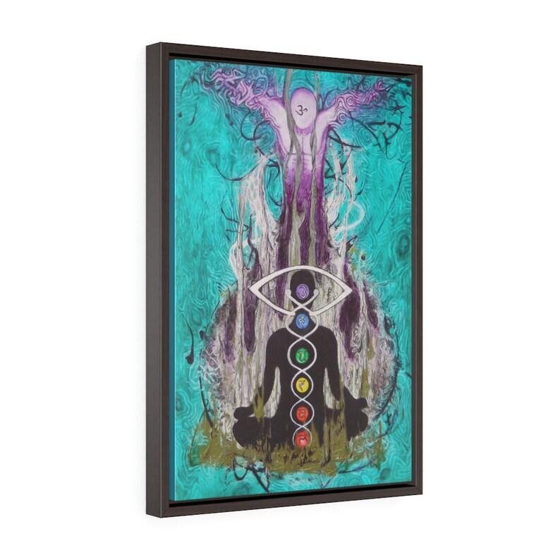 original art print The Higher Self Framed Premium Gallery Wrap Canvas yoga and meditation art by Ryanamosart