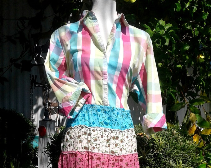 Plus maxi dress spring boho look easter western colorful festival