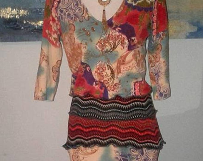 Artsy Clothing,Boho Chic,Long Maxi Dress,Upcycled Dress,Bohemian,Refashioned,Hippie,Sweater Dress,Womens Clothing,Free People,indie, vintage