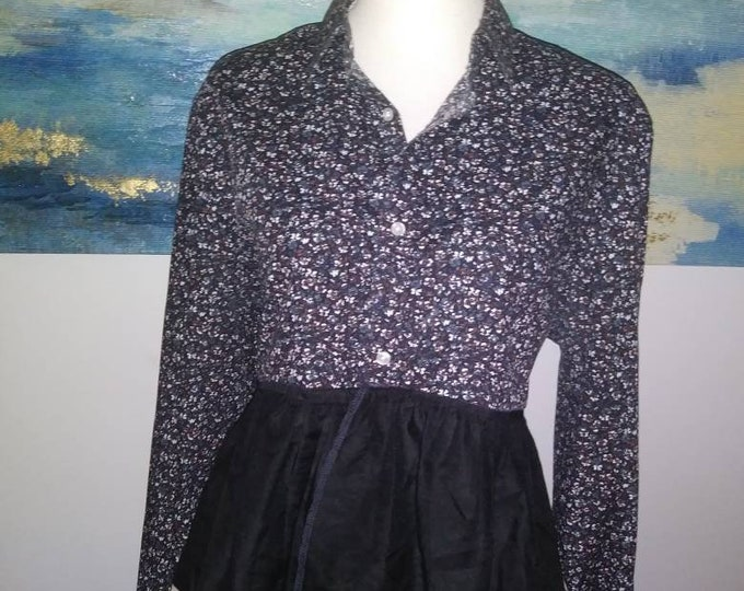 Womens upcucled Boho sz xl ruffle top
