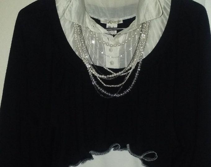 SUMMER SALE! Crop, top,14,16,2,piece,1x,outfit,dress,upcycled,lagenlook,boho,jean,skirt,dress,xl,xxl,plus,womens