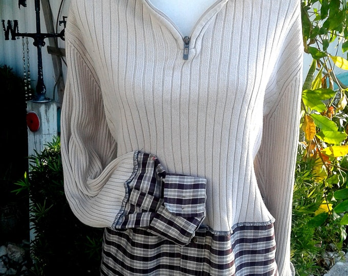 One,size,plus,sweater,dress,turtle,neck,1x,2x,xxl,16,18,22,w,1x,2x,plus,xxl,upcycle,brown,artsy,boho,earthy,lagenlook,womens