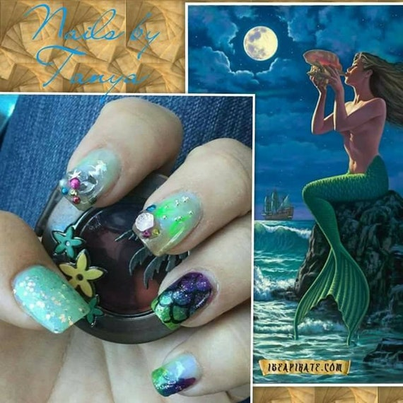 Made to order Nail Designs by Tanya press on bling nails with kit custom art hand painted long medium short coffin stiletto