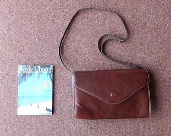 13ae6cc88f9e SALE Vintage Leather Bag FRANCINEL Leather Purse Black Purse ...