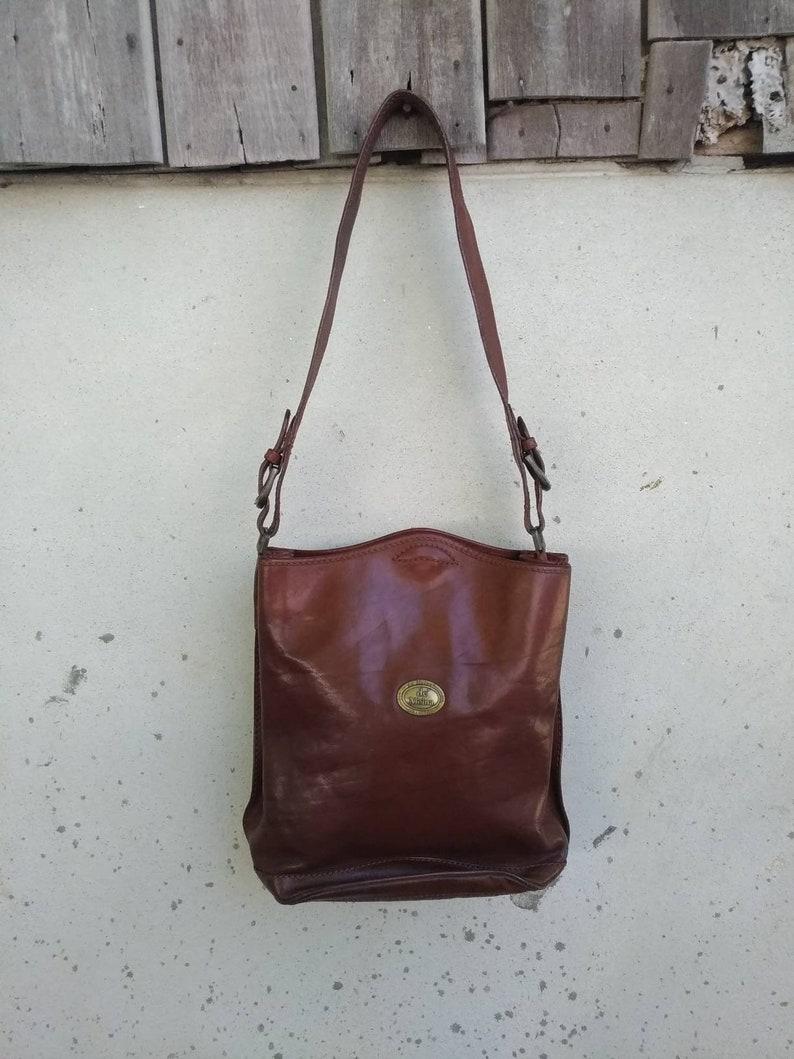 4f945a68ed VENTE Vintage de sac en cuir ' MOINA cuir bandoulière | Etsy
